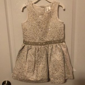 MAX Studio Baby White & Silver Holiday Dress